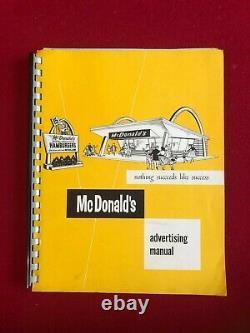 1960's, McDonald's Advertising Manual (Rare) Vintage (SPEEDEE Logo)