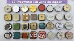 210! TIN Bonanza Vintage & Rare Typewriter Ribbon & Household Tin Can Collection