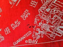 AMAZING Vintage 1940's Original LEE Salesman BANDANA! SUPER RARE