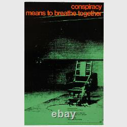 Andy Warhol Rare Vintage 1969 Original Electric Chair Conspiracy Poster