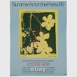 Andy Warhol Rare Vintage 1980 Original Summer Arts in the Parks Poster