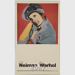 Andy Warhol Rare Vintage 1981 Original Willie Shoemaker Poster