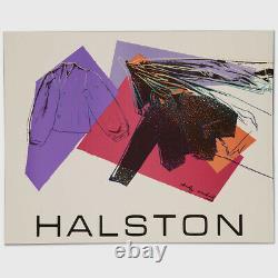Andy Warhol Rare Vintage 1982 Original Halston Women's Wear Poster