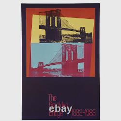 Andy Warhol Rare Vintage 1983 Original Brooklyn Bridge 1883-1983 36 Poster