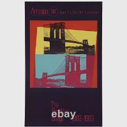 Andy Warhol Rare Vintage 1983 Original The Brooklyn Bridge 1883-1983 26 Poster