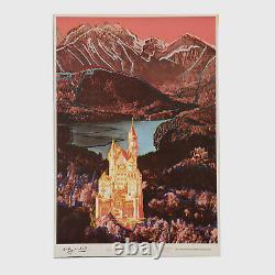 Andy Warhol Rare Vintage 1987 Original Neuschwanstein 35 3/4 x 24 1/2 Poster