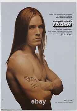 Andy Warhol Rare Vintage c. 1971 Original Trash (German) Poster MISC03.7078