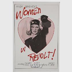Andy Warhol Rare Vintage c. 1971 Original WOMEN IN REVOLT! Poster