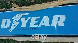 Authentic Vintage Goodyear Tires Metal Sign Nos Super Rare 10ft