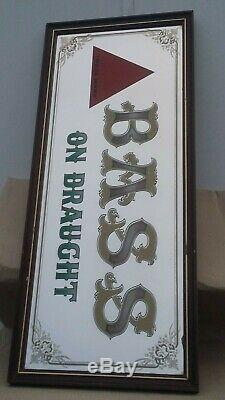Bass and co pub mirror advertising vintage rare lithograph collectors man cave