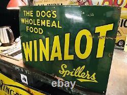 Beautiful Original Vintage Winalot Enamel Sign Rare