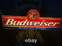 Budweiser Rare Vintage Light-Up Advertising Sign Man Cave/ Bar
