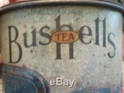Bushells Tea tin, very rare Antique Vintage Billy