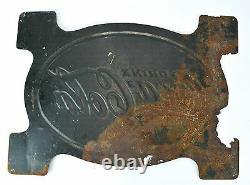Coca Cola RARE 1929 Tin Sign Trade Mark Registered Coke Vintage Antique