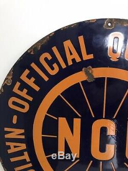 Enamel Sign Cycle Bicycle Advertising Collectable Old Rare Vintage Antique Bike
