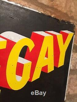 Enamel Sign Nosegay Original Old Rare Advertising Antique Vintage Collectable