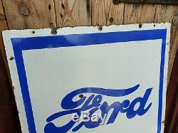Ford Cars Enamel Sign Vintage Automobilia Garage Memorabilia Advertising Rare