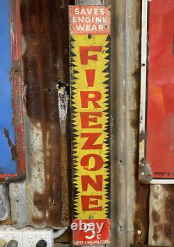 GOLDEN FLEECE FIREZONE Genuine Vintage Screen Printed Tin Sign RARE