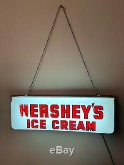 Hersheys Ice Cream Lighted Sign Vintage Rare Red Lettering