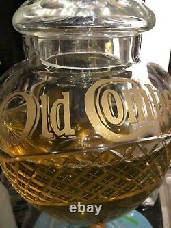 Huge cut glass Vintage Old Comber Irish Whiskey Dispenser Rare