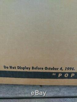 Jurassic Park VHS Movie Pop Up Standee Store Display Rare HTF 1994 Vintage Ad