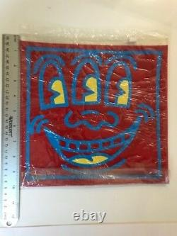 Keith Haring Pop Shop VINTAGE TOILETRY BAG from 292 Lafayette St, NYC Rare
