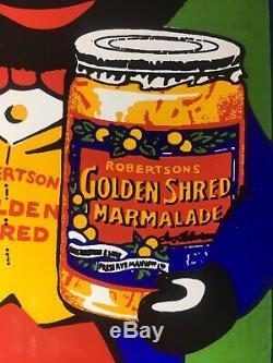 MINT CONDITION! Vintage Enamel Robertsons Golden Shred Rare Sign