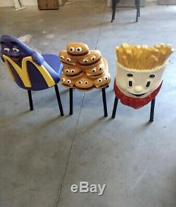 McDonalds Restaurant Vintage Playland Seat Chair Grimace RARE Ronald Mcdonald