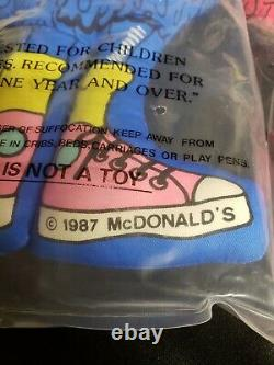 New Unopened Rare Collection McDonalds Stuffed Pillow Mascots Vintage 1987