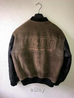 Nismo Old Logo Bomber Baseball Jacket Rare Vintage Leather 90s RB26 S13 R32 GTR