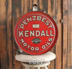 Orig. /Rare! 1927-dated Penzbest Kendall Motor Oils ROCKER CAN Vintage Oil Can