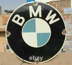 Original 1930's Old Vintage Rare BMW Motor Cycles Porcelain Enamel Sign Board