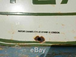 Original 1940's Old Vintage Rare Nectar Tea Porcelain Enamel Sign Board, LONDON