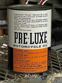 Original HARLEY-DAVIDSON PRE-LUXE Oil Can Regular Heavy 105 SAE 60 VTG RARE