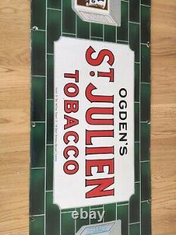 Original Ogdens St Julien Tobacco Enamel Sign Large Rare/Vintage/Antique