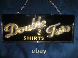 Original Rare Vintage Retro 1950s Neon Light Sign Shop Van Heusen Double 2 Shirt