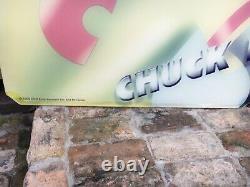 Original Vintage Chuck E Cheese Acrylic Sign Authentic 54 x 35 Rare Nice