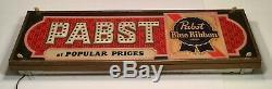 Pabst beer pbr Vintage Large Sign light up bar sign rare Display Advertising Old