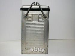 Pepsi Vintage 1950's Metal Aluminum Cooler Ice Chest Retro Silver VERY RARE