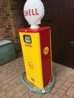 Petrol Pump Vintage Retro Rare Shell Globe Classic Car Garage Tokheim Mancave