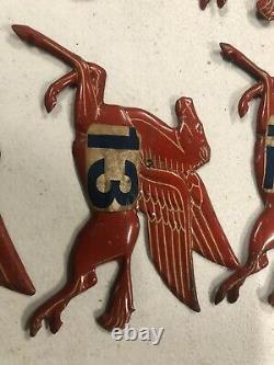 RARE ORIGINAL MOBIL PEGASUS METAL HORSES Vintage Sign Gas Pump Plate