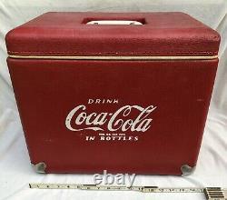 RARE VINTAGE 1950-60's VINYL COCA-COLA COOLER With Opener Lid ++ Royal Mieco