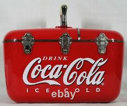 RARE! VINTAGE COCA COLA COOLBOX ICE BOX With AM FM RADIO / CD PLAYER NEW IN BOX