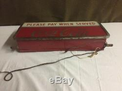 RARE VINTAGE COCA COLA SODA Please Pay When Served LIGHT SIGN