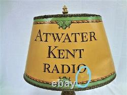 RARE VINTAGE and AUTHENTIC ATWATER KENT LAMP and SHADE
