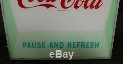 RARE Vintage1960s Coca-Cola Pause and Refresh Light-up Diner Sign
