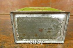 RARE Vintage 1920s Texaco Liquid Wax Dressing Square Quart Can Port Arthur TX
