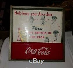 RARE Vintage 1950s Coca-Cola Light-up Sign PLEASE PUT EMPTIES IN THE RACK