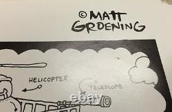 RARE Vintage Apple Macintosh Poster Bongo's Dream Dorm Matt Groening Life Hell