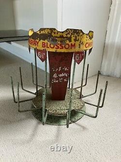 RARE Vintage Cherry Blossom Advertising Shop Display Carousel Shoe Polish